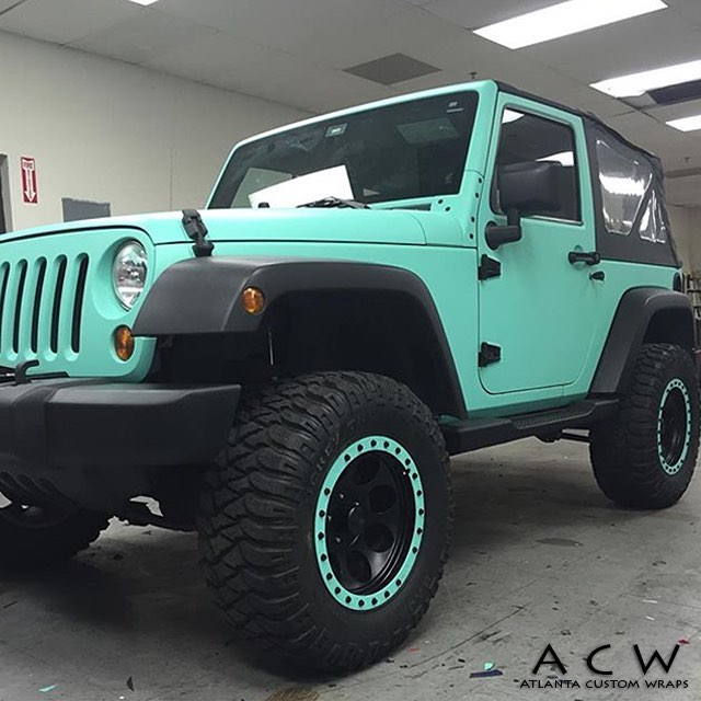 Mint Green Jeep Wrangler Jeep Wrapped In Avery Sw900 713